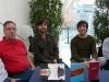 Joan Andrés Sorribes, Josep Porcar, Miquel Torres i Vicent Pallarés, a la taula de signatures de la la XXX Fira del Llibre de Castelló