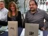 Josep Usó, Susanna Lliberós i Romà Bernad, a la taula de signatures de la la XXX Fira del Llibre de Castelló
