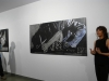 """Anna Moner i Sebastià Carratalà mostraren als assistens la seua exposició """"Els cossos agredits"""""""