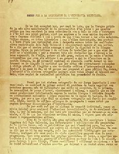 Les normes de Castelló, 1932