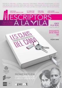 Cartell II Escriptors a la Vila, 2015