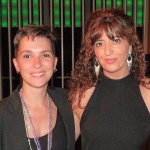 Anna Moner amb Bel Olid, presidenta de l'AELC
