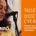 Rosa Miró al Taller d'Escriptura de la UJI (5-III-2019)