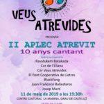 II Aplec Atrevit de les Veus Atrevides [11-V-2019]